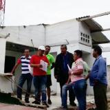 Protestan para que arreglen CAI de Soledad que sufrió atentando explosivo