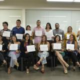 Los 19 jóvenes que se graduaron del módulo XII de la Escuela de Periodismo Olga Emiliani.
