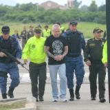 John Jairo Velásquez Vásquez, alias Popeye, llega a la cárcel la Tramacúa, de Valledupar.