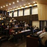 Víctor Bautista durante su intervención en el foro de la Universidad del Norte.