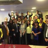 La reunión ayer entre Colombia Humana, Alianza Verde y Polo Democrático.