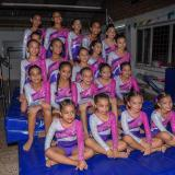 El grupo de integrantes del club Gymnastics Gold.