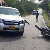 Muere mamo wiwa en accidente de tránsito