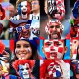 Los hinchas de Francia y Croacia se han tomado Moscú para presenciar el histórico partido.
