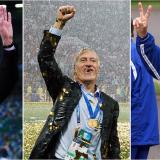 Franz Beckenbauer, Didier Deschamps y Mario Zagallo, únicas personas que ganaron un Mundial de fútbol como jugadores y entrenadores.