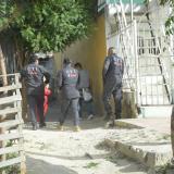 Detectives del CTI realizan la inspección en la zona.