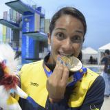Diana Pineda gana oro para Colombia en clavados trampolín de un metro