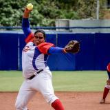 Anisley López en acción en los Juegos.