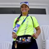Saray Llorente, voluntaria en los Juegos Centroamericanos.