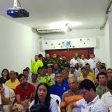 Comerciantes y autoridades presentes en la mesa de trabajo en Barranquillita.