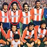 Carlos Alberto de la Torre (en el círculo rojo) con el Junior 1980 cuando se coronó campeón del fútbol colombiano.