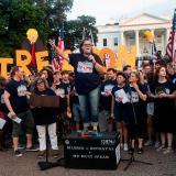 Artistas de Broadway protestan contra Trump