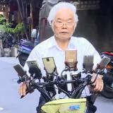 Abuelo tailandés conectó 11 celulares a su bicicleta para jugar 'Pokemon Go'
