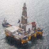 Plataforma exploratoria costa afuera en aguas del mar Caribe.