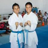 Sharon y Shanee Torres durante un entrenamiento.