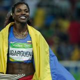 Caterine Ibargüen conquistó su quinto diamante de atletismo
