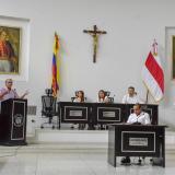 Eduardo Verano interviene en la clausura de las sesiones extraordinarias.