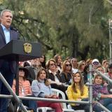 El presidente Duque en una reciente intervención en Bogotá.