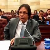 Lorduy presenta constancia de protesta ante el Congreso por recorte de presupuesto para la Región