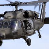 Los militares viajaban en un Black Hawk.