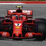 Raikkonen celebra en el Gran Premio de EEUU