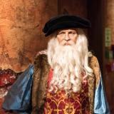 Figura de cera de Leonardo Da Vinci en el museo Madame Tussauds de Estambul.