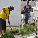 Alistan cementerio municipal para el Día de los Fieles Difuntos, en Malambo
