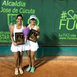 María Paulina y Paula Andrea Pérez se coronan campeonas de dobles en Cúcuta
