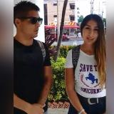 Paulina Lagos y Jorge Olivares, la pareja chilena que asegura fueron estafados por los vendedores de las playas de Bocagrande.
