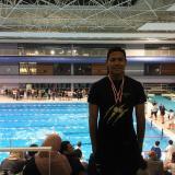 Dos oros para nadador atlanticense en torneo francés