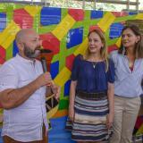 De izq. a der.: Diego Holguín, artista costeño; Liliana Borrero, primera dama Atlántico; Ángela M. Orozco, mintransporte, y Ricardo Restrepo, gerente.