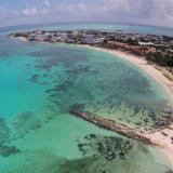 Vista superior de la isla de San Andrés.