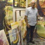 El artista banqueño Ángel Almendrales.