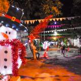En los Almendros se encendió la Navidad con la calle 18