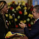 Presidente Duque entregó Pabellón Nacional a Caterine Ibargüen