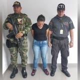 La mujer capturada.