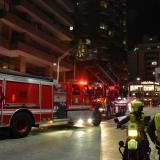 En el lugar hicieron presencia tres carros del cuerpo de bomberos.