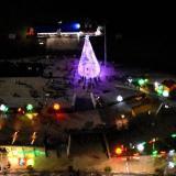 Vista aérea de la iluminación navideña que se encuentra en el Malecón del río Magdalena en Barranquilla en el sector de la Vía 40.