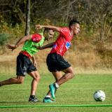 James en acción en el segundo entrenamiento del año.