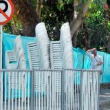 Entre 20 mil y 30 mil sillas son ofrecidas al público en cada desfile del carnaval.