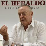 El rector de la Universidad Sergio Arboleda, Rodrigo Noguera Calderón, en la entrevista con EL HERALDO.