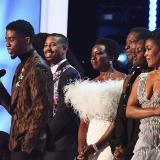 El elenco de 'Black Panther' en la vigésima quinta edición de los SAG, donde ganaron como Mejor reparto.