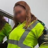 Policía de tránsito en líos por fotos íntimas