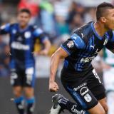 Alexis Pérez suma cuatro goles con la camiseta de los Gallos Blancos del Querétaro.