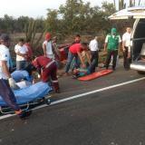 Camioneta se vuelca en la vía Ciénaga - Barranquilla: tres personas heridas