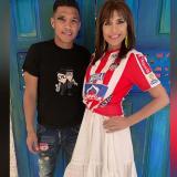 Lorena Meritano se puso la camiseta de Junior en su visita a Barranquilla