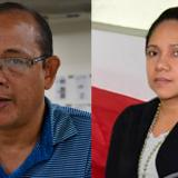 El abogado Ramiro Fernán Álvarez de la Cruz y la víctima de amenaza, Deidy Luz Villarreal Atencia.