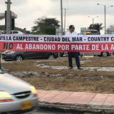 Vecinos del Corredor Universitario protestan ante la falta de reguladores del tráfico