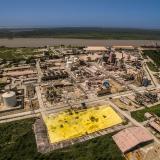 Vista aérea de las instalaciones de la planta de Monómeros ubicada en Barranquilla.