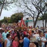 Vista de la procesión celebrada el pasado sábado en los sectores de Mamatoco, la cual  estuvo animada con música y bailes.